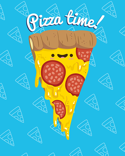 create free Pizza time group card