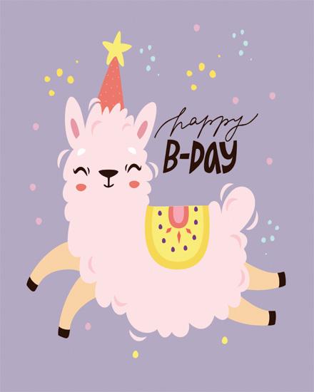 create free Lama Birthday group card