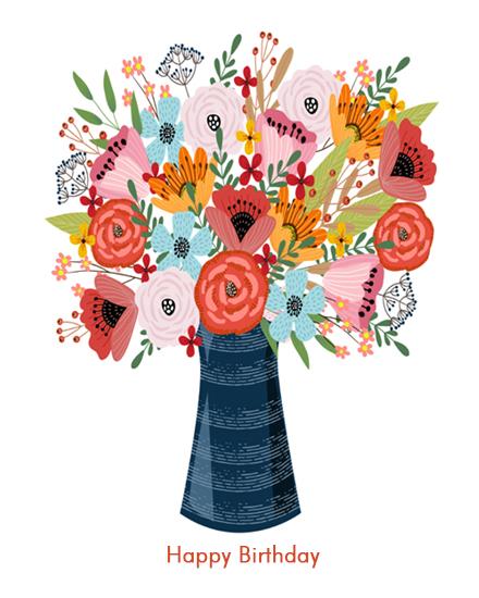 create free Flower Vase group card
