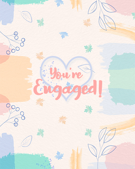 create free You are engaged group card