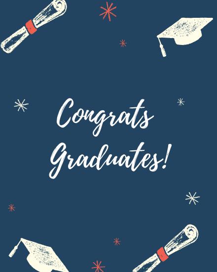 create free Congrats Graduates group card