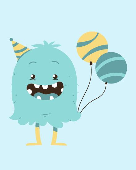create free Birthday Balloons group card