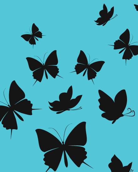 create free Butterfly group card