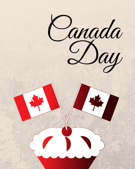 create free Canada Day Cake group card