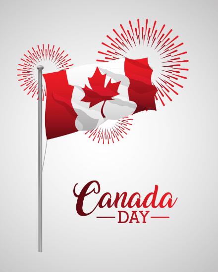 create free Canada Flag group card