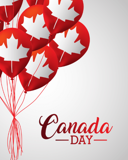 create free Canadian Balloons group card