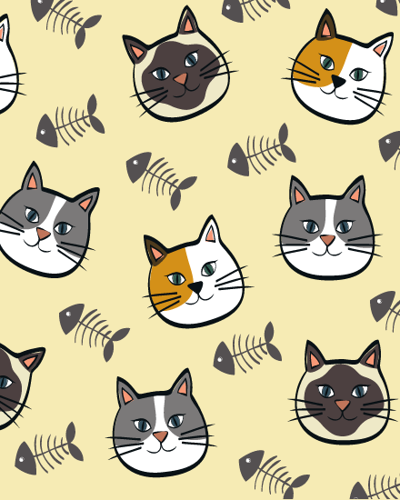 create free Cats group card