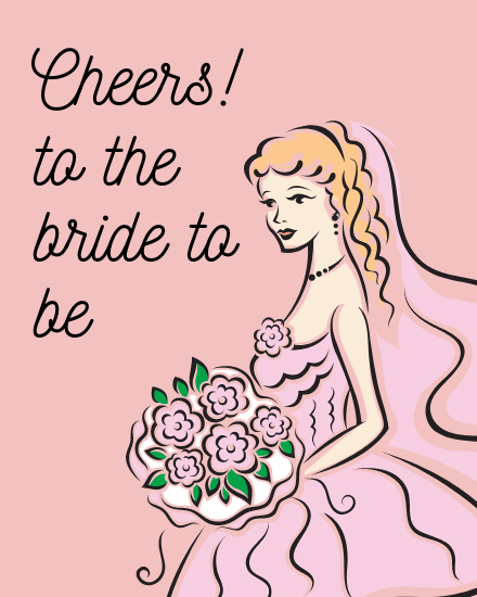 create free Cheers To Bride group card