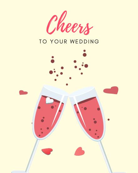 create free Cheers to wedding group card
