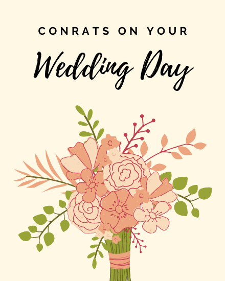 create free Wedding Day group card