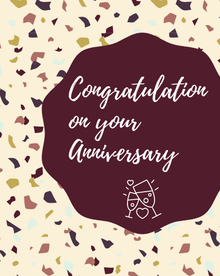 create free Anniversary Congrats group card
