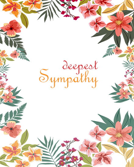 create free Deepest Sympathy group card