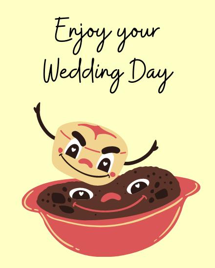 create free Enjoy Wedding group card