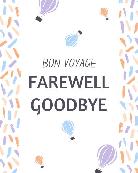 create free Farewell Goodbye group card