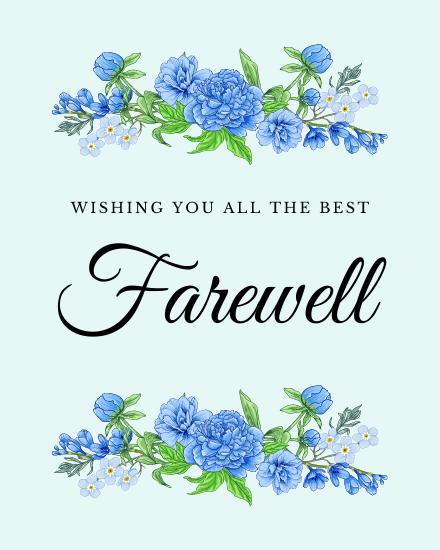 create free Floral Farewell group card
