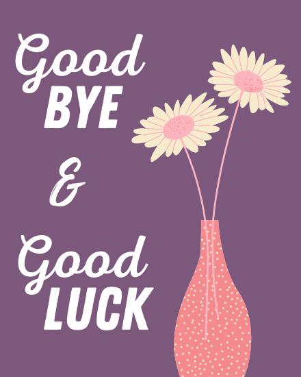 create free Floral Good Bye group card