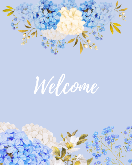 create free Floral Welcome group card