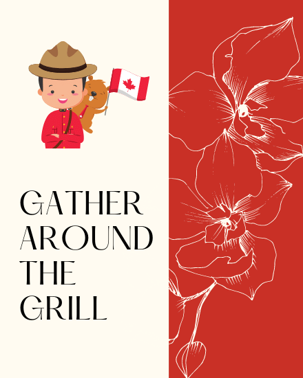 create free Gather Around the Grill group card
