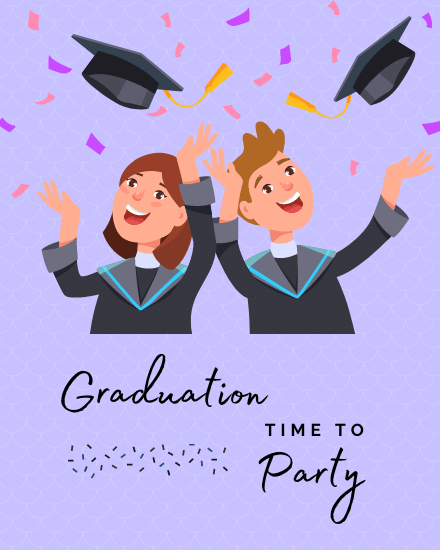 create free Graduation Party group card