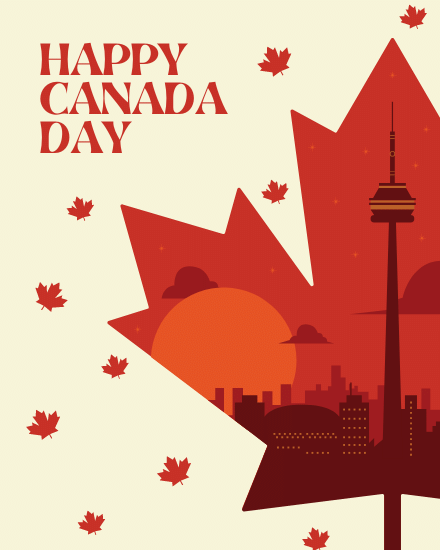 create free Happy Canada Day group card