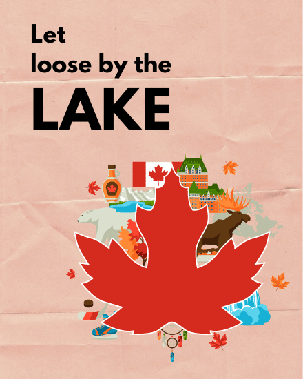 create free Let loose by the lake group card
