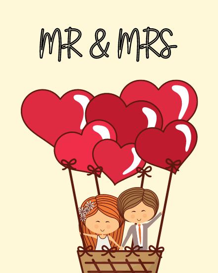 create free Mr & Mrs group card