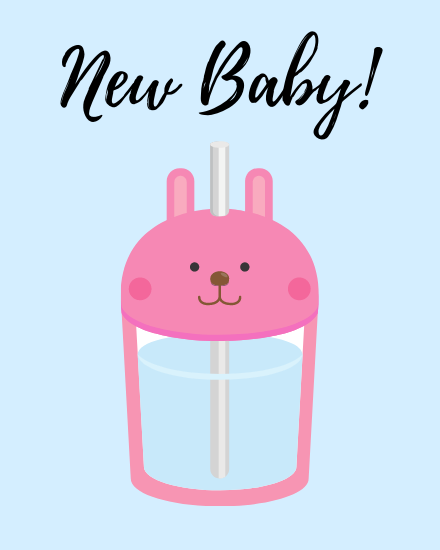 create free New Baby group card