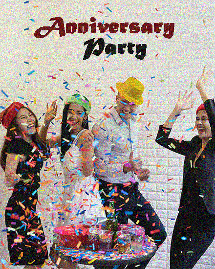 create free Office Party group card