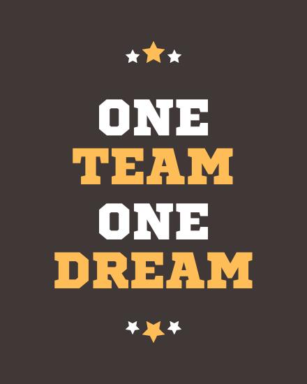 create free Team & Dream group card