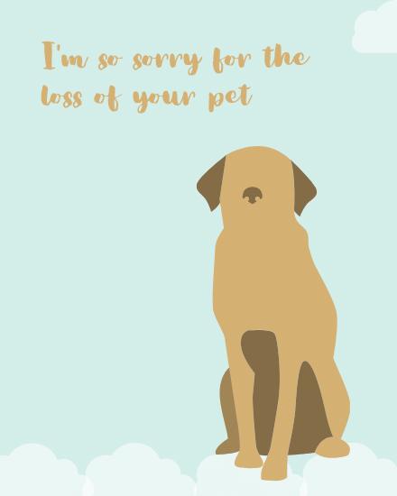 create free Dog loss group card