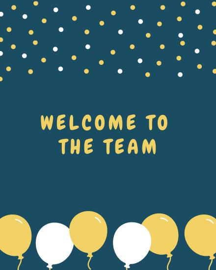 create free Team balloons group card