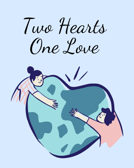 create free Two Hearts group card