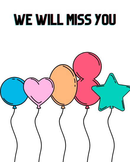 create free Will Miss You group card