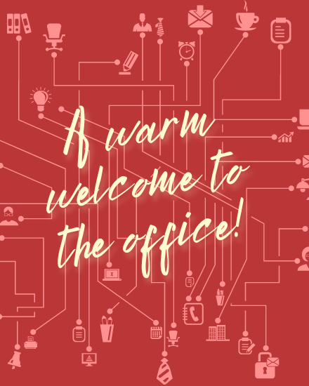 create free Welcome to office group card