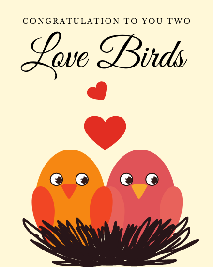 create free Love Birds group card