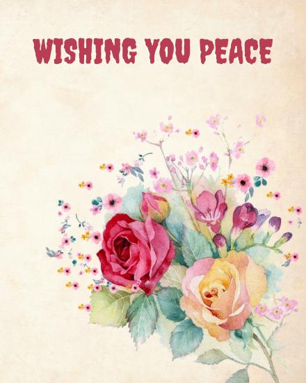 create free Wishing you peace group card