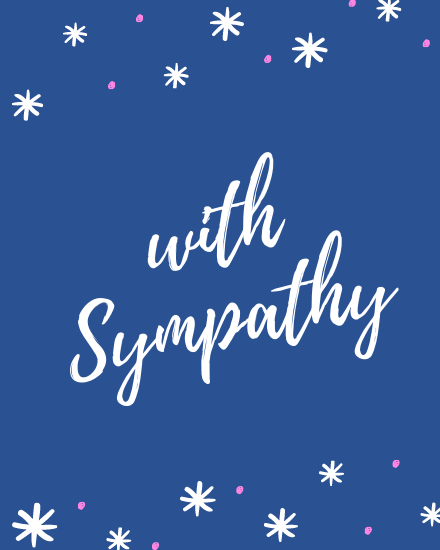 create free With Sympathy group card