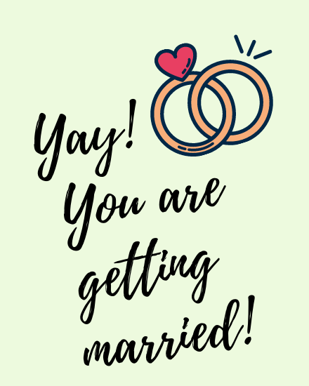 create free Getting Married group card