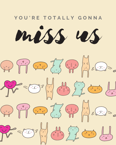 create free Miss Us group card